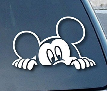 SoCoolDesign Mickey Mouse Peeking Auto Fenster vinyl Aufkleber Aufkleber