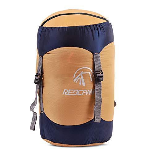 REDCAMP 15/25/35 L Nylon Kompressions-Beutel für Schlafsack, leicht, kompakt, Kompressionstasche für Camping, Outdoor, Wandern, Rucksackreisen, Reisen, Gelb, Yellow XL
