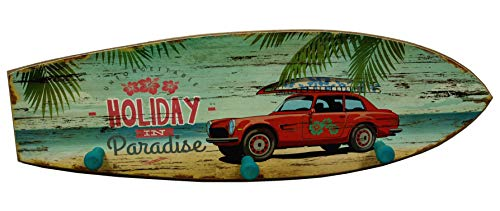 Hakenleiste Handtuchhaken Surfbrett Holiday in Paradise Strand-Design Bad Dekoration