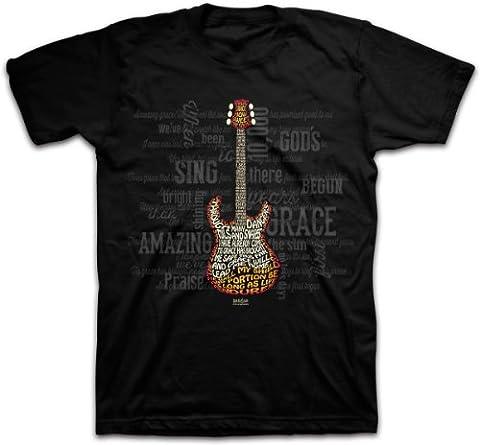 Kerusso Amazing guitare Christian T-shirt - Noir - Large