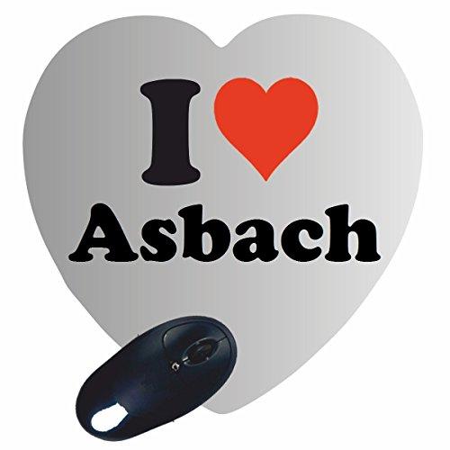 """Preisvergleich Produktbild Exklusive Geschenkidee: Herz Mauspad """"I Love Asbach"""" eine tolle Geschenkidee die von Herzen kommt- Rutschfestes Mousepad- Weihnachts Geschenktipp"""