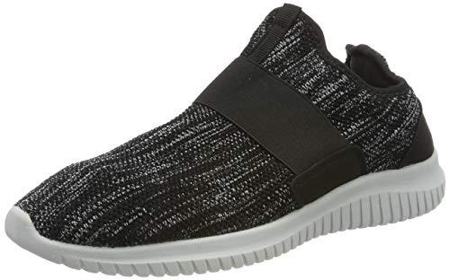 ZOCAVIA Herren Damen Sneaker Running Laufschuhe Sportschuhe rutschfeste Sneaker, Schwarz-grau1, 43 EU