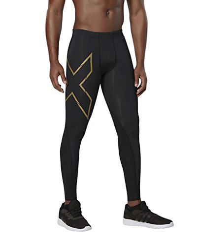 2 x u Collant de Compression Mens Elite MCS [Xform] Pantalon, Noir/Or,M