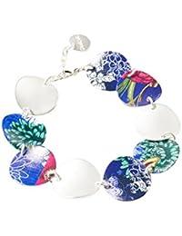 Desigual - Bracelet manchette - Plaqué argent - Global Traveller - 19 cm - 72G9EJ95016U