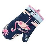 YYFRB Guanti Cartoon Guanti da Forno Corti Flamingo Kitchen Set di Isolamento A Microonde Alto 2 Pezzi Guanti (Color : A)