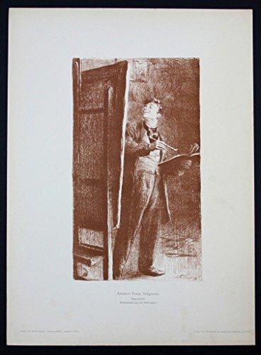 Adalbert Franz Seligmann Wien Original Lithographie Litho