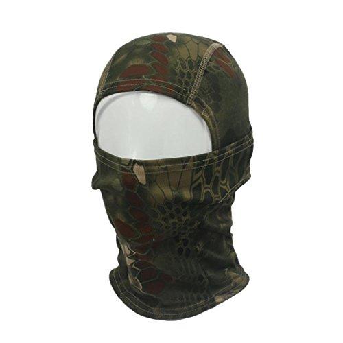 Vovotrade® Camuflaje Ejército Táctico Ciclismo Motocicleta Gorra Pasamontañas Sombreros Completo Cara Cuello Máscara (Verde)