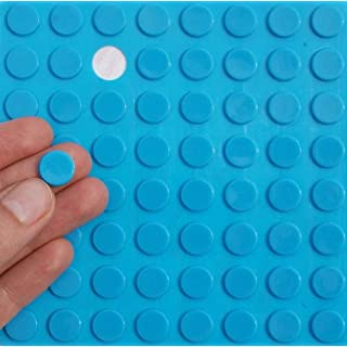 BLUE 3M RUBBER FEET Bumpons ~ 12mm Dia x 2mm Height ~ Adhesive Anti-Slam Furniture Unit Door Protectors (20 Individual Bumpons)