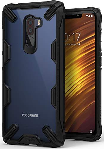 Ringke Fusion-X Kompatibel mit Pocophone F1 Hülle, Ergonomische Transparent Schutzhülle Hart PC Rückseite Case TPU Rahmen Bumper Cover Kratzfest Handyhülle für Xiaomi Pocophone F1 - Schwarz Black