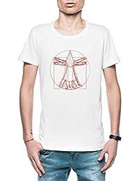 Vitruvio Pirámide Cabeza Hombre Camiseta Blanco Tamaño L - Mens ...