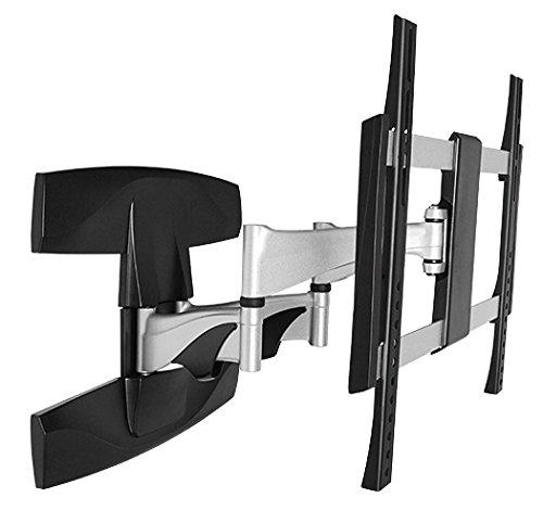 RICOO Wandhalterung TV Schwenkbar Neigbar S1944 Universal LCD Wandhalter Ausziehbar Fernseher Halterung Fernsehhalterung 102cm/40-165cm/65 Zoll/VESA 200x200 400x400/Silber-Schwarz