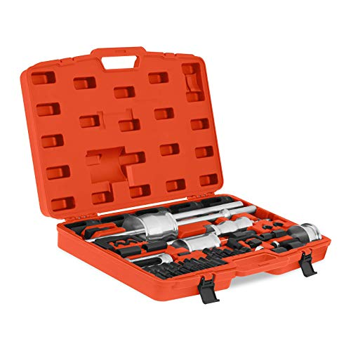 MSW Motor Technics Injektor Abzieher Auszieher Set für Diesel Einspritzdüsen MSW-IE-3H (3 Gleithämmer, Gleithammeradaptierung für Innen-, Außen- und Klauenabzieher, Koffer mit Zubehör)