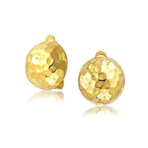 Bling Jewelry aus vergoldetem Silber 925er Sterlingssilber Golf Ball Clip auf Ohrringe Legierung Clip