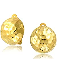 Gold Plated Golf Ball Clip On Earrings 925 Silver Alloy Clip