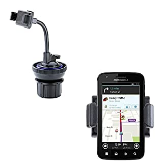 Ultra Compact Motorola ATRIX 4G Car / Truck Mounting System Features Both Cupholder and Flexible Windshield Suction Mounts