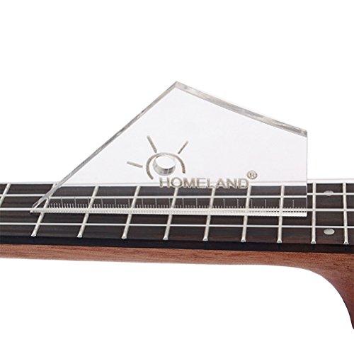 Healifty Fret Rocker Leverling Gitarre Luthier Werkzeug für E-Gitarren Bässe Folk Akustische Gitarre (Transparent)