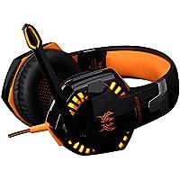 LESHP Auriculares de Diadema Cerrados Gaming, G2000 Game Auriculares con Micrófono USB Estéreo para PS4