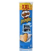 Pringles Salt & Vinegar Flavored Potato Chips Can - 200 gm