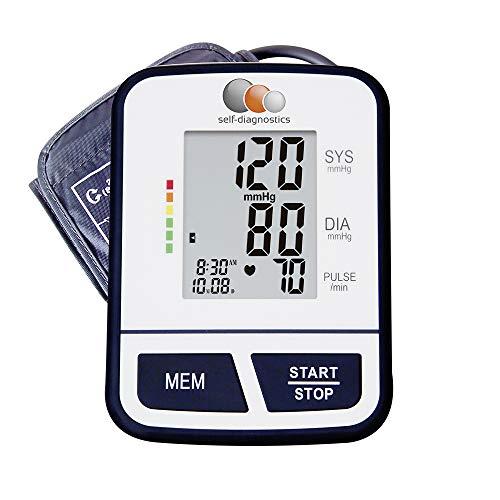 Oberarm-Blutdruckmessgerät SD-BP 120 mit Arrhythmie Anzeige und Ampel-Farbskala