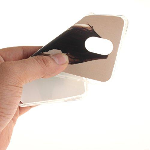 iPhone 5 Coque, Étui Cover Housse pour iPhone 5S 5C 5G, Durable TPU Rubber Skin Soft Shell iPhone SE Case, Résistant à la poussière Scratch (3D Cartoon lapin oreille ) Pink color-8