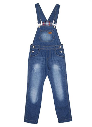 Jungen Latzhose Slim Leg Light Wash Kinder-Latzhose Blau Alter 6 KID048 Gr.116