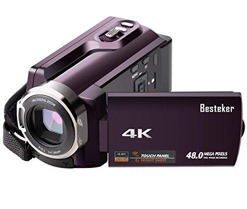 Videocamera wifi 4k besteker portatile fotocamera digitale visione notturna 48mp 16x zoom camcorder con 3