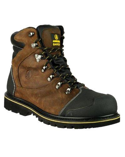Amblers-Safety FS227 botte Hommes Bottes acier travail Bout Chaussures en cuir brown