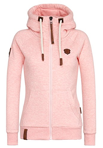 Naketano Female Zipped Jacket Brazzo Sugar Pink Melange, S