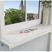 Fensterbrett 50 mm Tief Fensterbank Ohne Seitenteile Wei/ß 1400 mm Lang