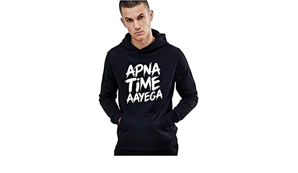 c3680088 Hustle Bustle Apna time aayega Hoodie or Men Gully boy Gully Gang Hoodie  for Men: Amazon.in: Clothing & Accessories