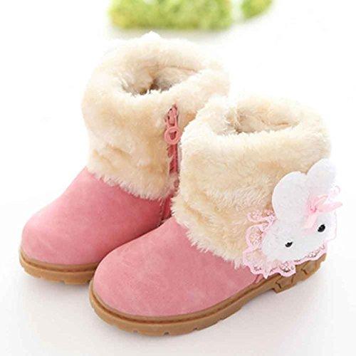 JIANGFU Buck Baby warme Schneeschuhe,Mädchen-nette Art- und Weisewinter-Baby-Kind-Art-Baumwollstiefel-warme Schnee-Aufladungen (24, PK)