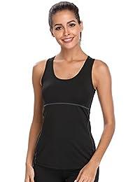 Joyshaper Camiseta de Deportes para Mujer Top de Tirantes Chaleco Ajustado de Compresión de Secado Rápido Sudadera Ropa Deportiva sin Mangas