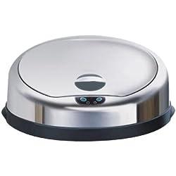 Kitchen Move 101 Couvercle pour Poubelle Automatique de Cuisine avec Capteur Sensoriel ABS Chrome 30.5 x 13 x 30.5 cm