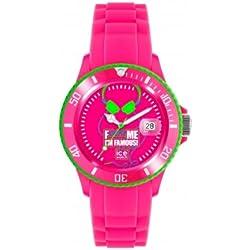 Ice-Watch FM.SS.FPH.BB.S F*** Me I'm Famous Pink Big Big Silicone Watch