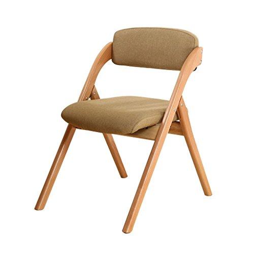 Brilliant firm Sessel & Stühle Klappstühle Klappstuhl Esszimmer Stuhl Stuhl Computer Stuhl Buche Bürostuhl (Color : Beige)
