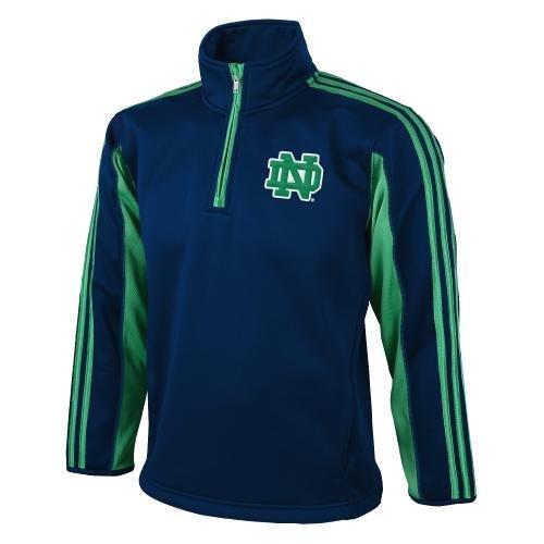 Adidas 1/4 Zip (Notre Dame Fighting Irish Adidas Kinder 3-Stripe 1/4 Zip Sweatshirt)