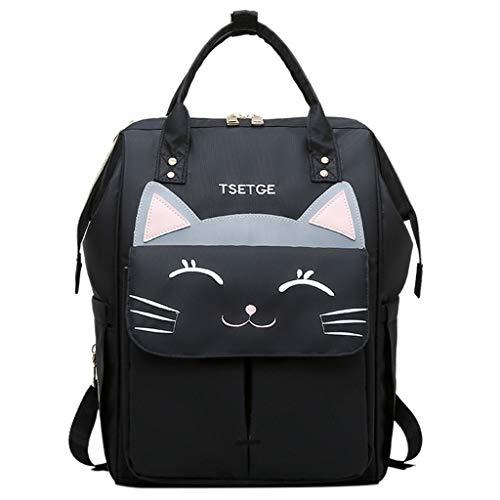 SHJIRsei Zaino con Caricatore USB e Cuffie e Porta Portatile Unisex Zainetto Scuola Media Ragazza e Ragazzo Backpack per PC Laptop