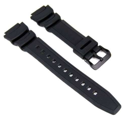 Casio 10347820 - Cinturino per orologio, unisex, resina, colore: nero