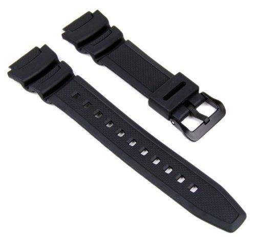 Casio 10347820 - Correa para reloj, resina, color negro
