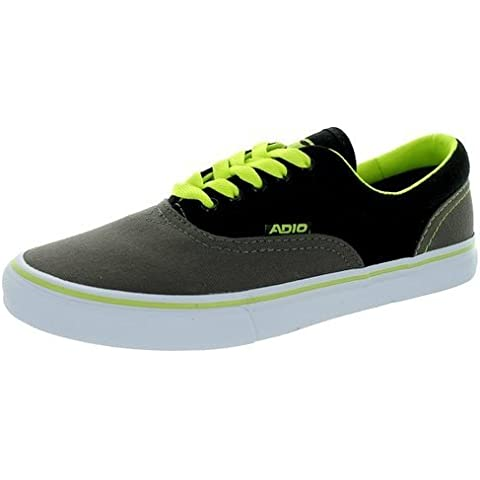 Adio skateboard shoes Canvas Cruiser Charcoal / Lime - Sneakers Sneaker Vegan