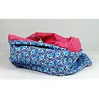 902813e77b6765 Loop Sterne Schlauchschal handmade Schal Punkte pink weiß blau