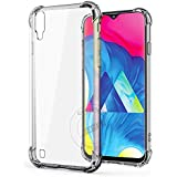 Jkobi Silicon Flexible Shockproof Corner TPU Back Case Cover For Samsung Galaxy M10 -Transparent