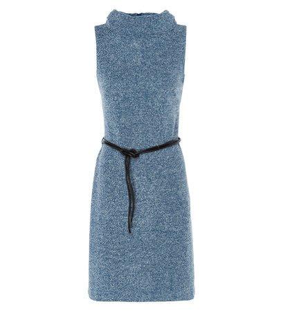 zero Damen Kleid im melierten Look 313830 petrol blue-m 38