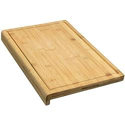 Coninx Tabla de Cortar Trinchar Tabla de Bambú - 40 cm x 30 cm x 2.5 cm Grande y Robusto Cocina - Tabla de Cortar de Madera de bambú con surco