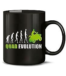 Golebros Quad Evolution Motorsport 548 Geburtstag Geschenk Fun Tasse Becher Kaffeetasse Kaffeebecher Schwarz-Grün