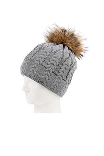 Karbaro - Ensemble bonnet, écharpe et gants - Femme gris clair