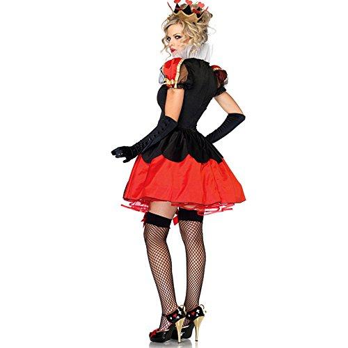 Imagen de lalaareal disfraz bruja reina de corazones mujer para halloween, carnaval alternativa