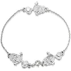 Disney Couture oro blanco Alicia en el país de las maravillas Cheshire Cat pulsera
