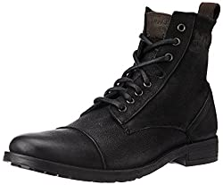 Levis Mens New York Lace Black Leather Boots - 9 UK/India (43 EU)