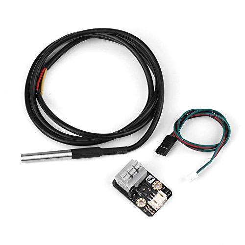 Wassertemperatursensor DS18B20 Thermometer Transducer-Modul mit Wasserdichter Sonde, Digitaler Thermischer Sonden-Sensor -